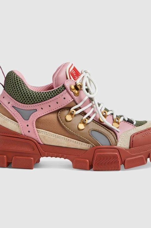 chunky sneakers gucci rosa