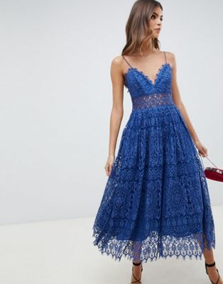 vestito blu outfit