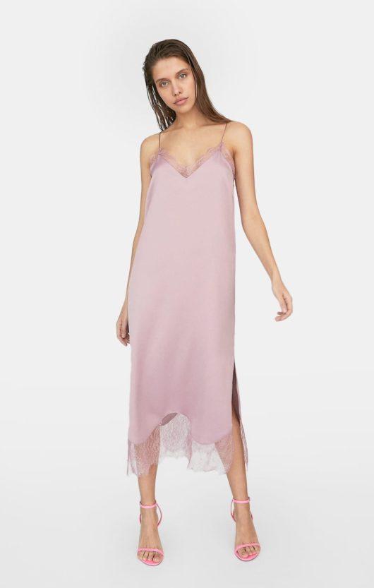 vestito sottoveste rosa cipria