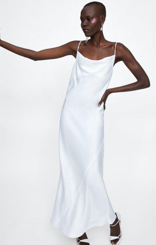 vestito sottoveste zara bianco