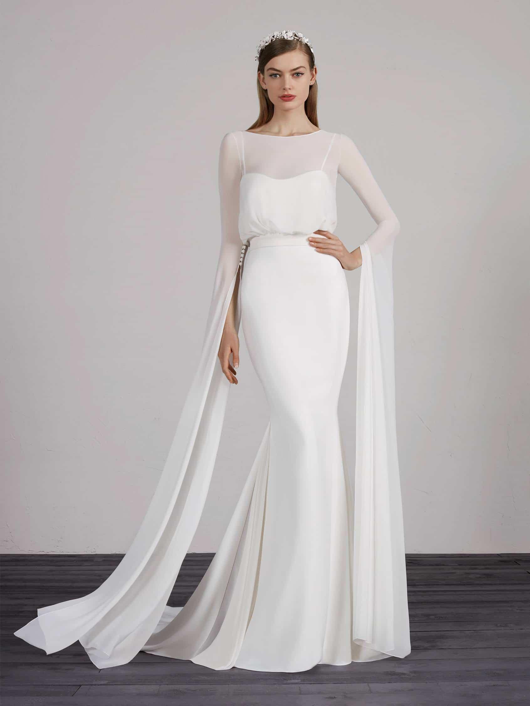 abito da sposa a maniche lunghe