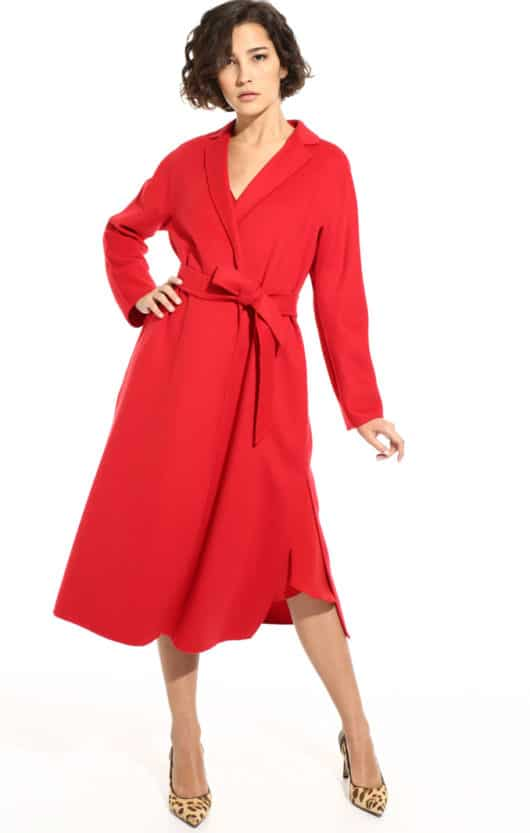 cappotto rosso diffusione tessile