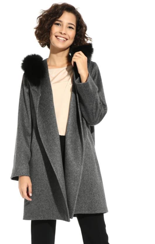 cappotto grigio outfit