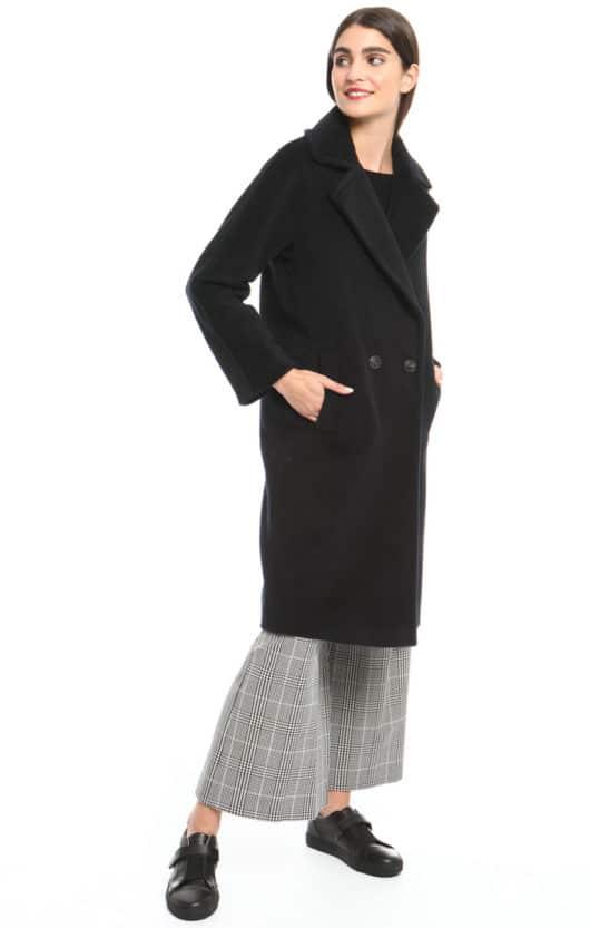 cappotto nero outfit