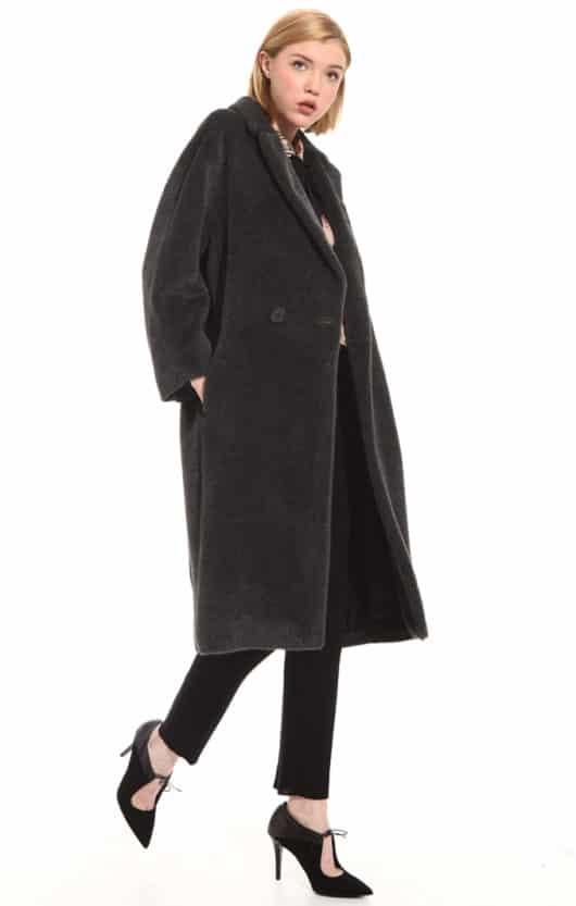 cappotto nero diffusione tessile