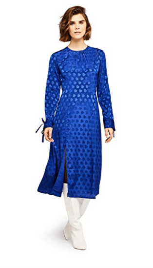 vestito blu elettrico