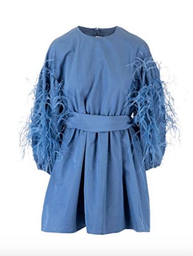 vestito blu Valentino
