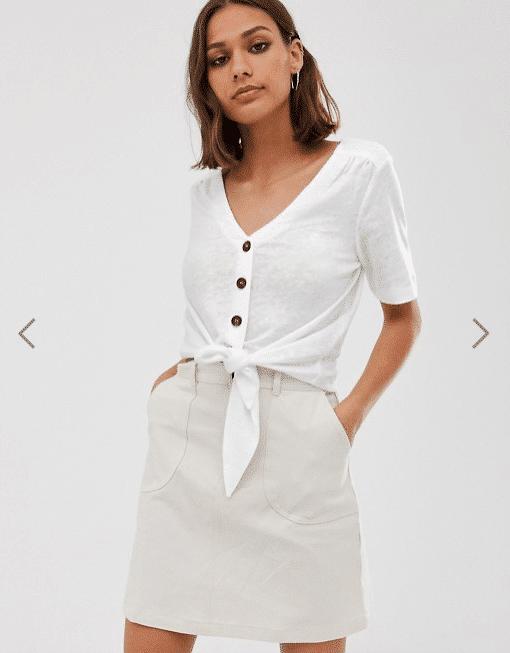 maglietta con nodo asos