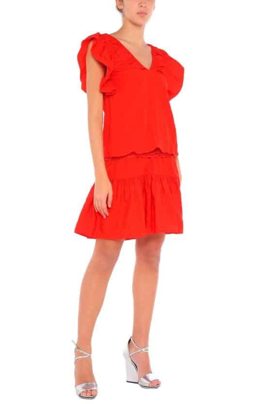 vestito arancione corto