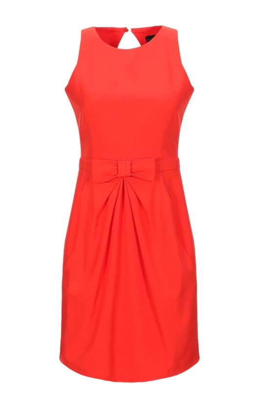 vestito arancione lungo