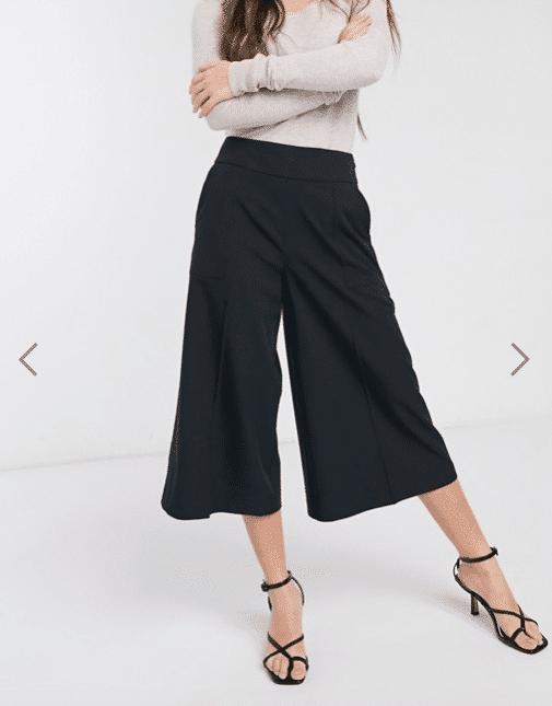 pantaloni culotte outfit