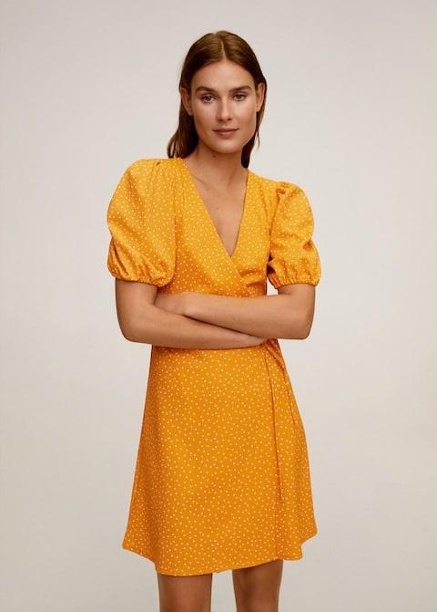 vestito incrociato mango
