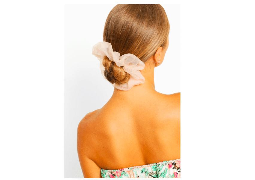 scrunchie elastico capelli organza