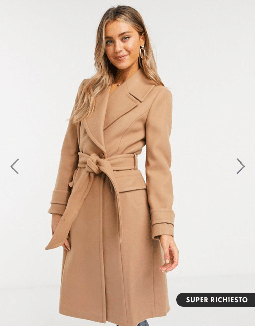 cappotto cammello asos