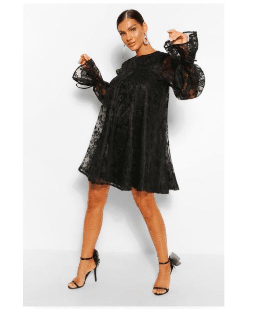 vestito nero pizzo 2020
