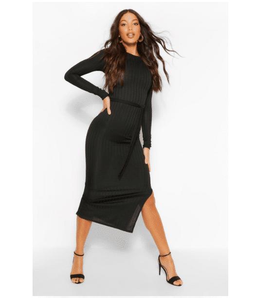 vestito maglia nero 2020