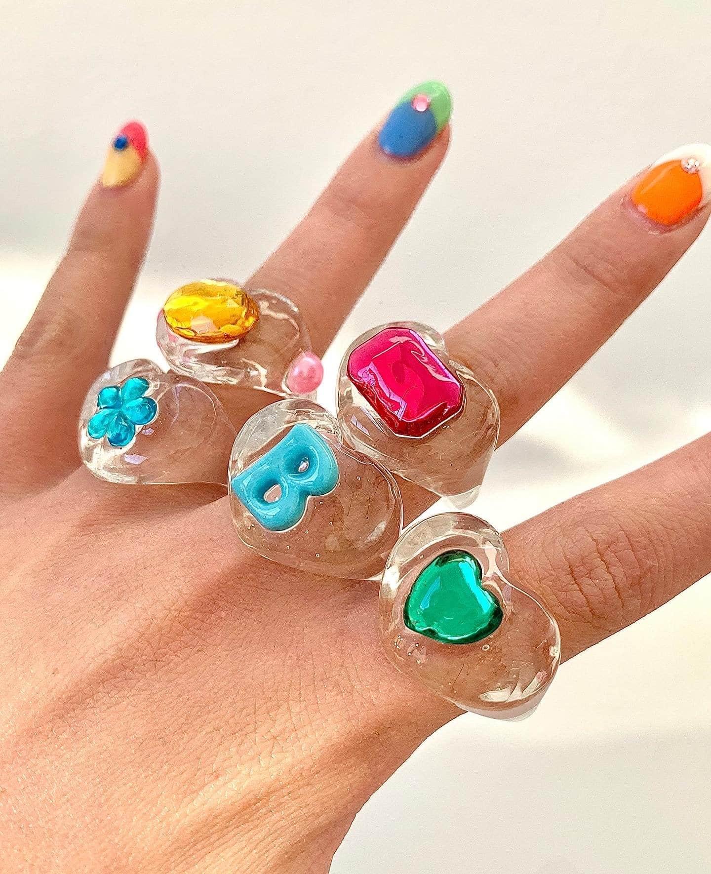 anelli colorati bon bon