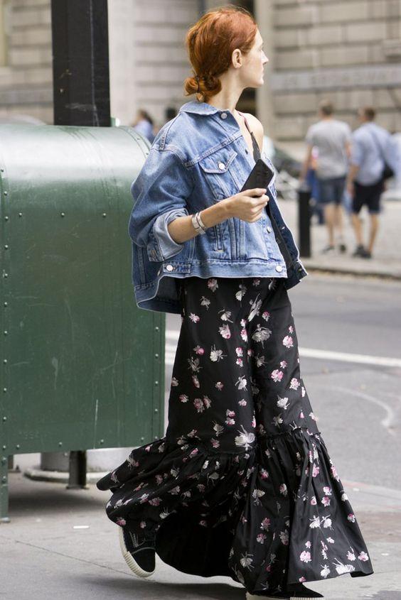 vestitini floreali giacca jeans