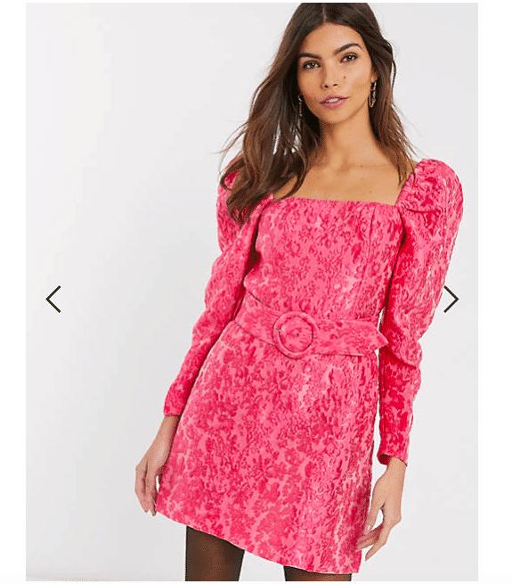 vestitini floreali vestito corto rosa fiori jaquard