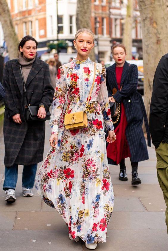 vestito fiori lungo vestitini floreali